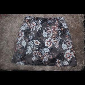 Boohoo Floral Mini Scuba Skirt